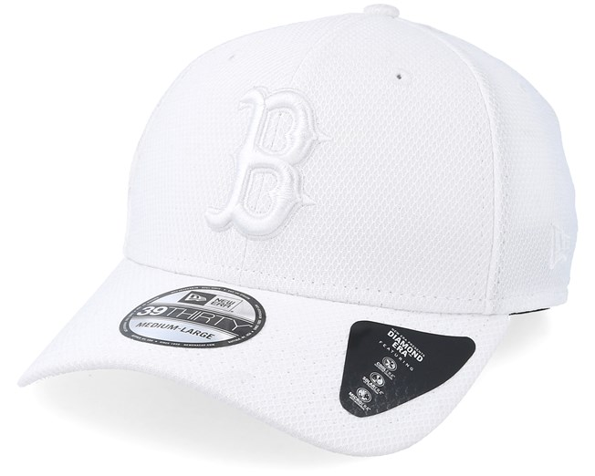 06df61d148e Boston Red Sox Diamond 39Thirty White Flexfit - New Era caps -  Hatstoreworld.com
