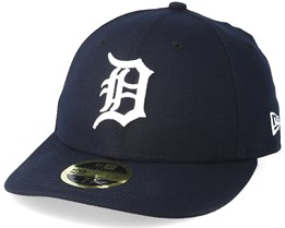 Detroit Tigers Authentic Team Low Profile 59Fifty Navy/White Fitted - New Era