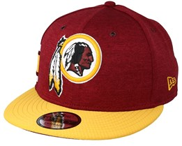 91b3284ca51298 Washington Redskins 9Fifty On Field Burgundy/Yellow Snapback - New Era