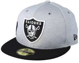 Oakland Raiders 59Fifty On Field Grey/Black Fitted - New Era