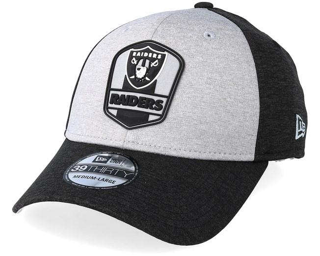 673216ea38ae6 Oakland Raiders 39Thirty On Field Grey Black Flexfit - New Era caps -  Hatstoreworld.com