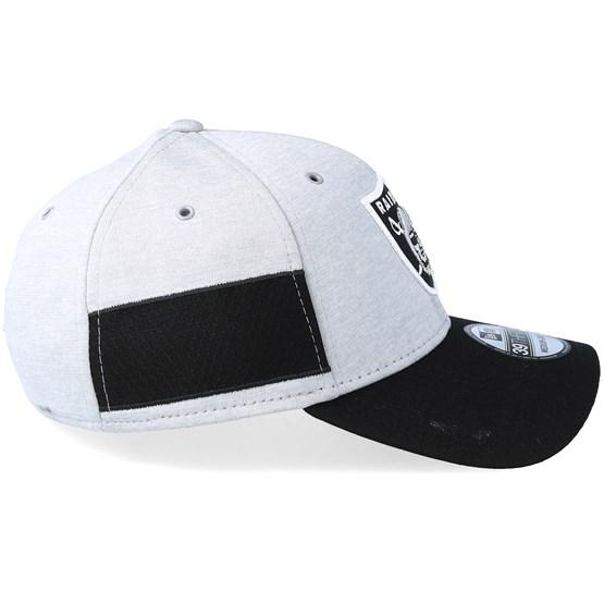43576b5338b49 Oakland Raiders 39Thirty On Field 2 Grey Black Flexfit - New Era caps -  Hatstoreaustralia.com