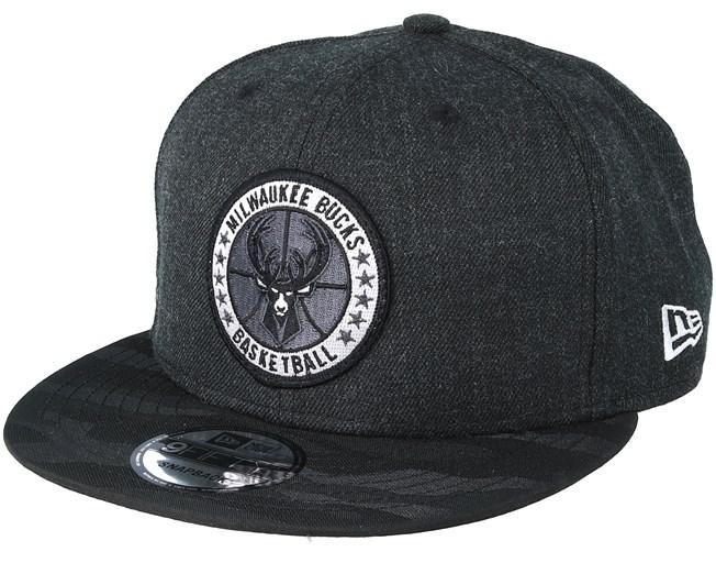 low priced 49916 c7f40 Milwaukee Bucks Tipoff Series 9Fifty Heather Black Snapback - New Era caps  - Hatstoreworld.com