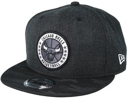 info for dc514 01a00 Chicago Bulls Tipoff Series 9Fifty Heather Black Snapback - New Era