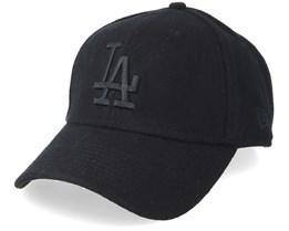 Los Angeles Dodgers Winter Utility Melton 9Forty Black/Black Adjustable - New Era