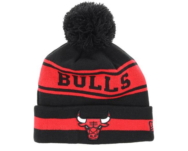 b2e9e3aeae934c Chicago Bulls Team Jake Black/Red Pom - New Era beanies | Hatstore.co.uk