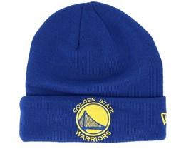 Golden State Warriors Team Essential Knit Blue/Yellow Cuff - New Era