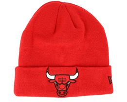 Chicago Bulls Team Essential Knit Red/Black Cuff - New Era