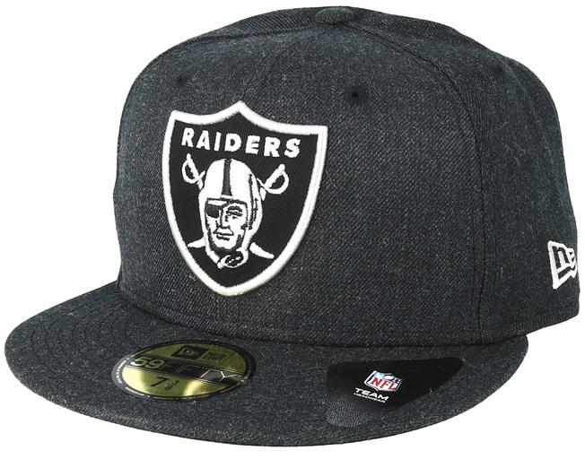 the latest 1d647 fe07f Oakland Raiders 59Fifty Heather Black Fitted - New Era
