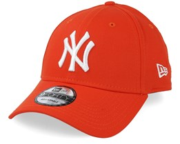 182acab520d22 New York Yankees League Essential 9Forty Orange White Adjustable - New Era