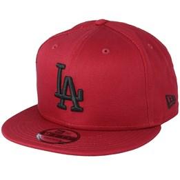 new style c2414 b75b5 New Era Los Angeles Dodgers League Essential 9Fifty Burgundy Black Snapback  - New Era  34.99