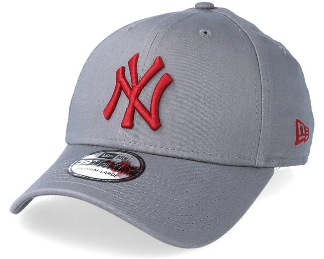 New York Yankees League Essential 39Thirty Grey Cardinal Flexfit ... 0e0b6c0b2659