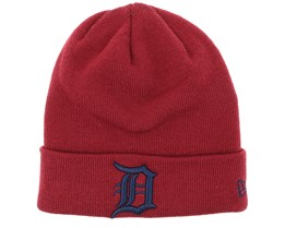 Detroit Tigers League Essential Knit Cardinal/Navy Cuff - New Era