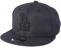 7466d5d53e98b Los Angeles Dodgers 9Fifty Essential Heather Black Snapback - New Era