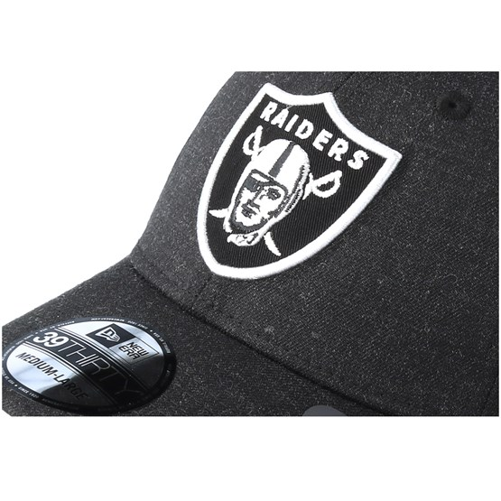 a0bf9787a2f Oakland Raiders 39Thirty Essential Heather Black Flexfit - New Era caps -  Hatstoreworld.com