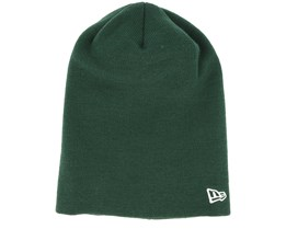 Essential Long Knit Dark Green Long Beanie - New Era