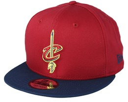 Cleveland Cavaliers Contrast Team 9Fifty Cardinal/Navy Snapback - New Era