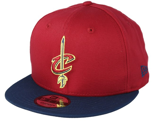 best sneakers 1b67e 14bde Cleveland Cavaliers Contrast Team 9Fifty Cardinal Navy Snapback - New Era