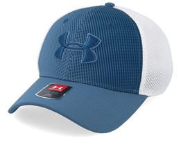 TB Classic Mesh Thunder Blue/White Flexfit - Under Armour