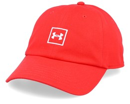 Washed Cotton Martian Red Adjustable - Under Armour