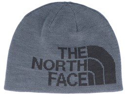 Kids Anders Reversible Midnight Grey/Asphalt Grey Traditional Beanie - The North Face