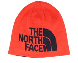 Highline Reversible Fiery Red/Black Traditional Beanie - The North Face