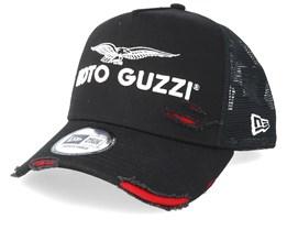 Worn Moto Guzzi Sp19 Black/White/Red Adjustable - New Era