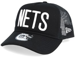 Brooklyn Nets Team Block Black Trucker - New Era