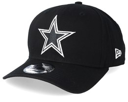 Dallas Cowboys Historic Precurved 9Fifty Black/White Adjustable - New Era