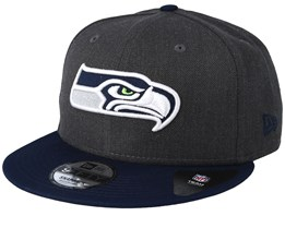 Seattle Seahawks Heather 9Fifty Dark Grey/Navy Snapback - New Era