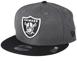 Oakland Raiders Heather 9Fifty Dark Grey/Black Snapback - New Era