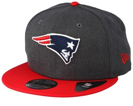 New England Patriots Heather 9Fifty Dark Grey/Red Snapback - New Era