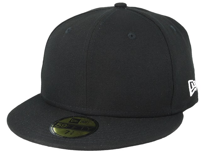 low priced f6b31 15488 NE Side 59Fifty Black Fitted - New Era caps   Hatstore.co.uk