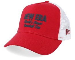 Finest A-Frame Scarlet/White Trucker - New Era