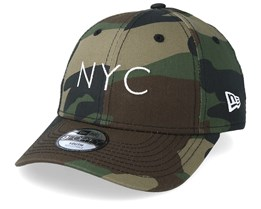 Kids NYC Essential 9Forty Green Camo Adjustable - New Era