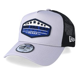 official photos ddb28 c0a84 New Era Patch Grey Black Blue Trucker - New Era £34.99