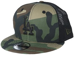 b9f2ee7fd0fd8 Los Angeles Dodgers League Essential Team 9Fifty Camo Black Trucker - New  Era