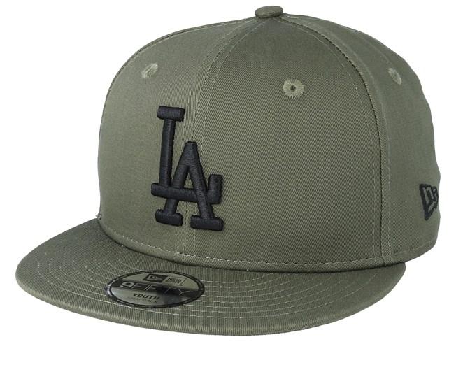 3e6bdebe5 Kids Los Angeles Dodgers League Essential 9Fifty Dark Green/Black Snapback  - New Era cap - Hatstore.co.in
