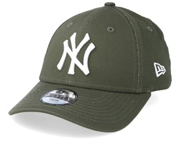 3fa00726bfa Kids New York Yankees League Essential 9Forty Dark Green White Adjustable - New  Era