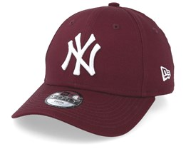 Kids New York Yankees League Essential 9Forty Dark Maroon/White Adjustable - New Era