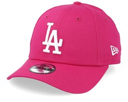 47e612ebe970e Kids Los Angeles Dodgers League Essential 9Forty Dark Pink White Adjustable  - New Era