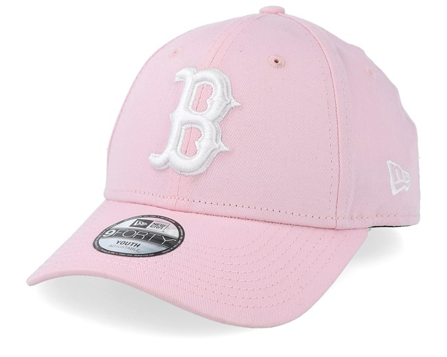 buy popular fresh styles another chance Kids Boston Red Sox League Essential 9Forty Pink/White Adjustable ...