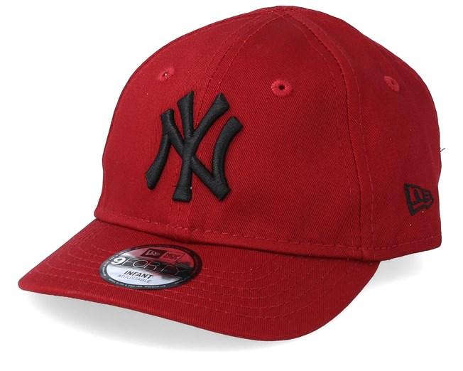 6255d3574d6 Kids New York Yankees Infant Essential 9Forty Red Black Adjustable - New  Era caps - Hatstoreworld.com