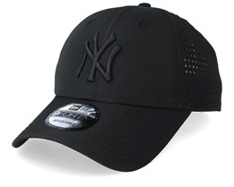 3bb0264cd04 New York Yankees Feather Perf 9Forty Black Adjustable - New Era