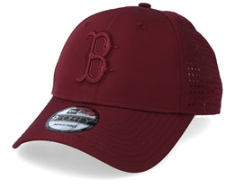 Boston Red Sox Feather Perf 9Forty Burgundy Adjustable - New Era