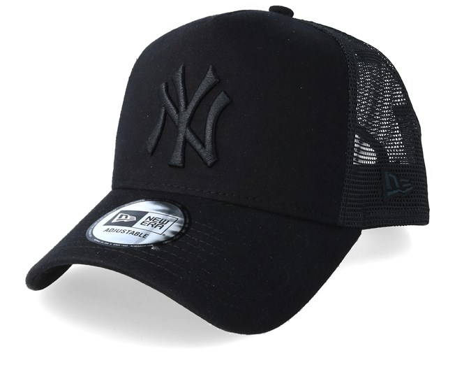 677efeb60 New York Yankees Essential Jersey E-Frame Black/Black Trucker - New Era caps  - Hatstoreaustralia.com