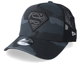 Kids Superman Character 9Forty Black Camo Trucker - New Era