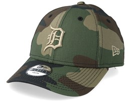 Kids Detroit Tigers Camo Fabric 9Forty Camo Adjustable - New Era