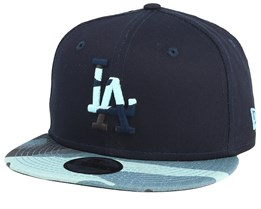 Kids Los Angeles Dodgers Character 9Fifty Black/Light Camo Snapback - New Era