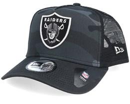 Oakland Raiders Essential Black Camo Trucker - New Era